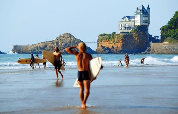 Cote des Basques in Biarritz