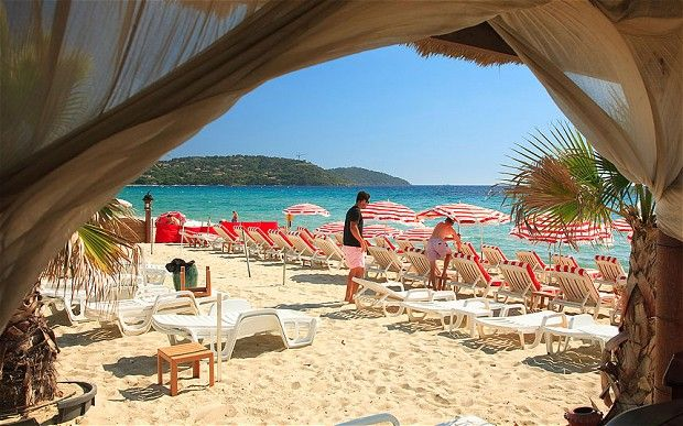 Strand van Pampelonne in St Tropez