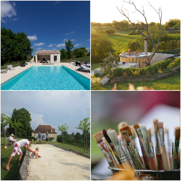 relaxen bij le Cariol in de Dordogne