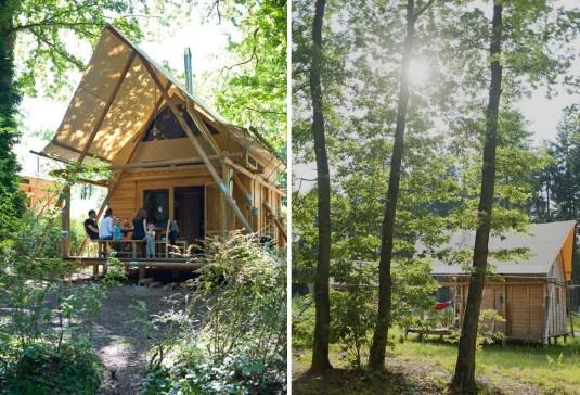 natuurcamping en gmaping in de Dordogne bij Huttopia