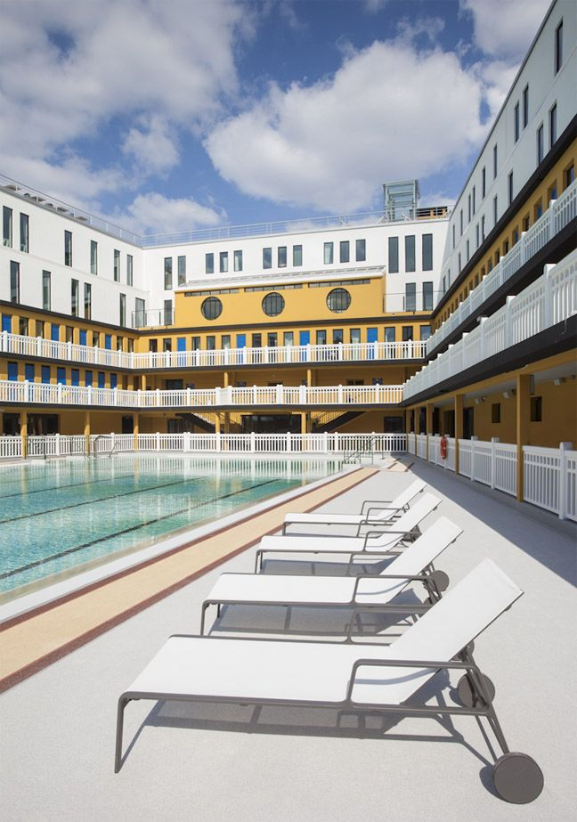 Piscine molitor slapen in een art deco zwembad in parijs for Piscine molitor hotel