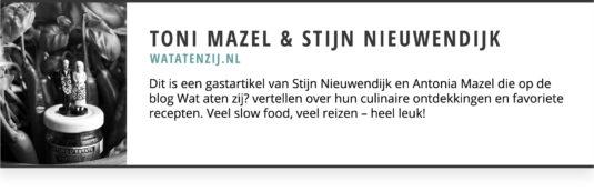 Wat aten zij Toni Mazel Stijn Nieuwendijk Gastblogger