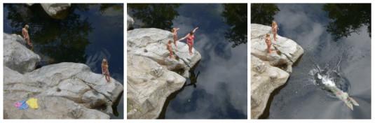 Zwemmen in de Volande in de Ardèche