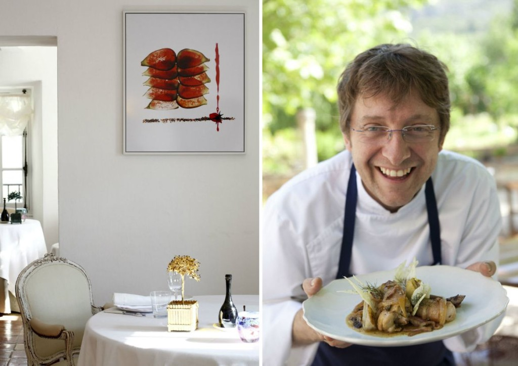 Chef Christophe Martin in hotel Bastide des Moustiers