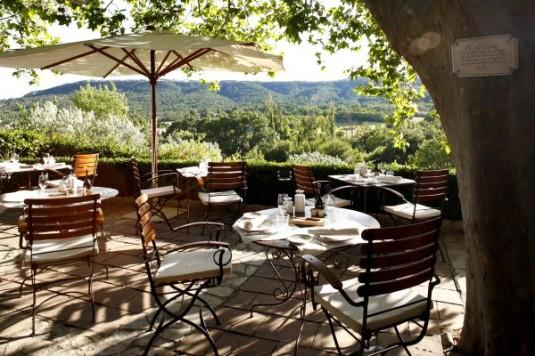Terras van Bastide des Moustiers in Provence