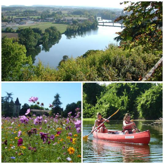 rivier le Lot in Frankrijk