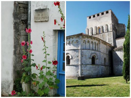 Mornac-sur-Seudre-Charente-Maritime-stokroos-en-kerk