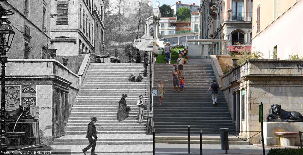 Trap naar Fourvière in Lyon