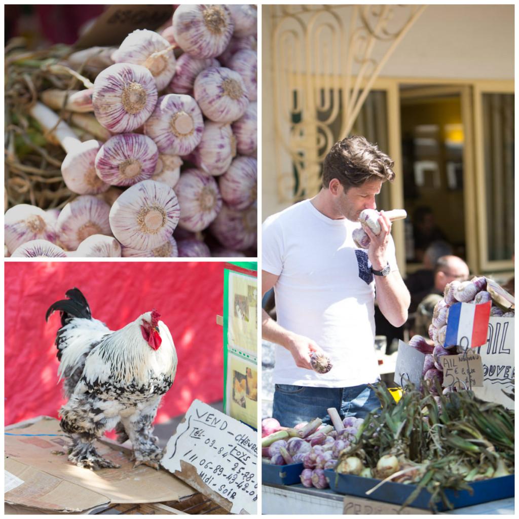 John Gerdsen op de markt in Frankrijk