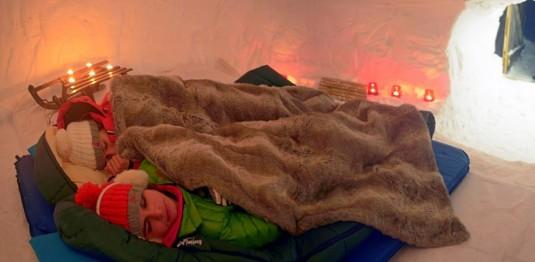 eten of slapen in een iglo - La Plagne Paradiski