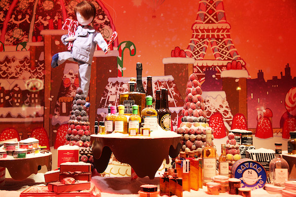 Kerst Parijs shopping kerstetalages Printemps 2016