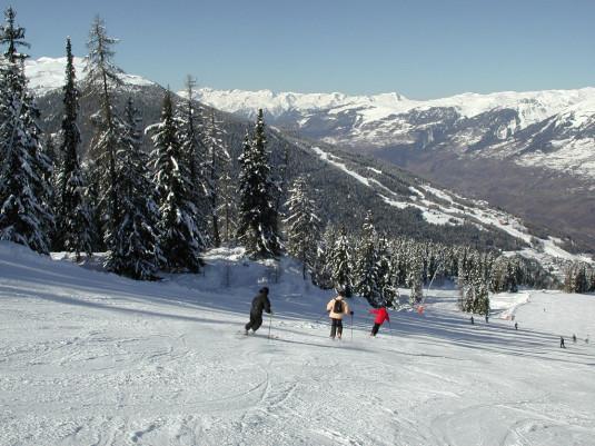 skiënd naar Vallandry - Paradiski