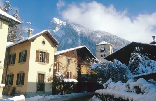 gezellige kleine dorpen bij grote skigebieden Samoens
