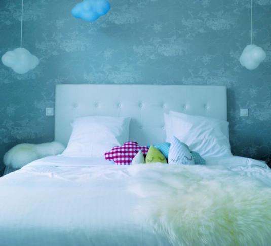 Lit nuage in hotel Mademoiselle