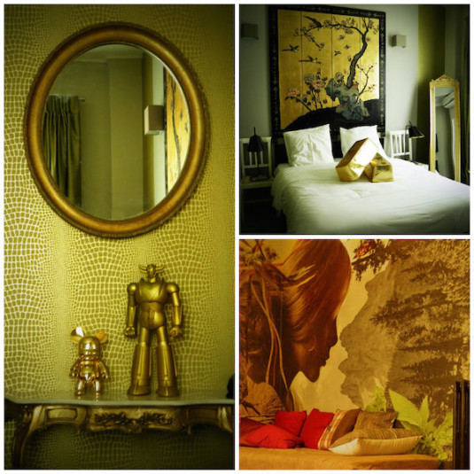 gouden kamer Hotel Mademoiselle Juan Les Pins