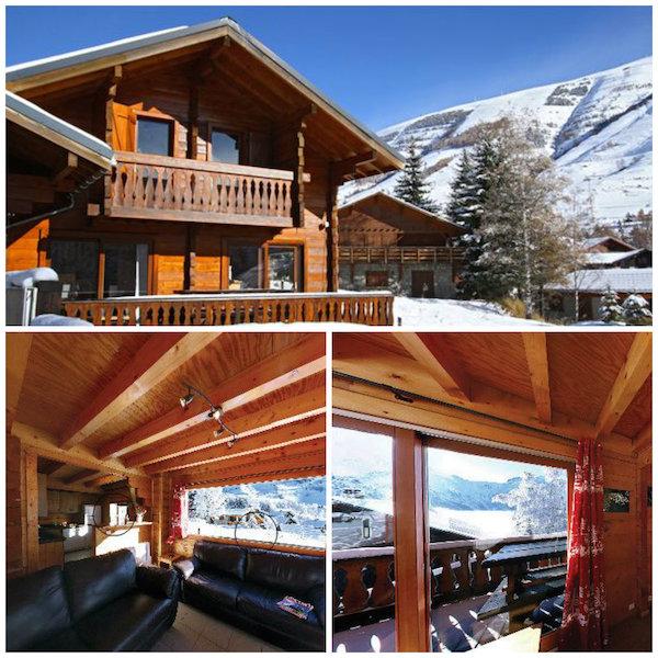 mooie chalets skivakantie vrienden en familie: Chalet Soleil Levant Les deux Alpes