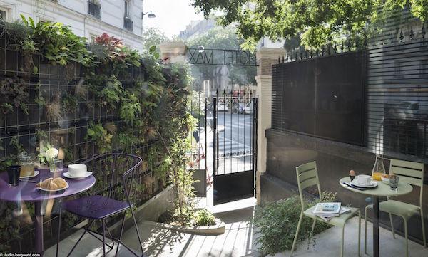Tuintje Hotel Max Parijs
