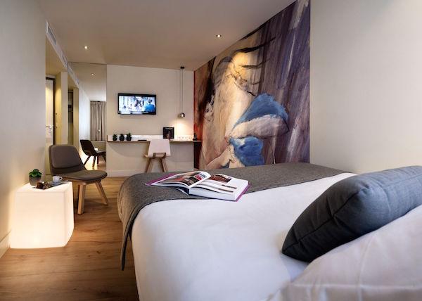 Grote kamer in Hotel Max Parijs