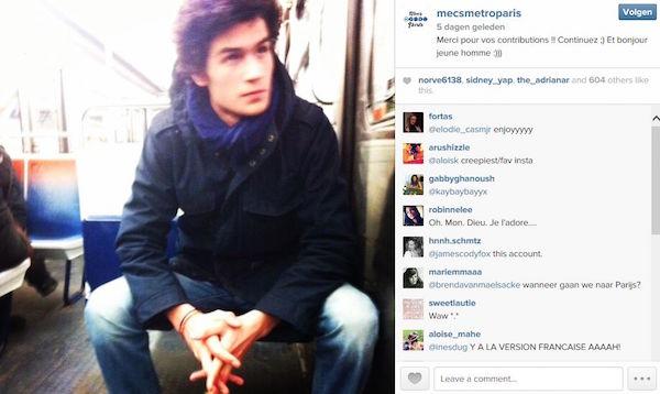 """Instagram account """"Mecs metro Paris"""""""