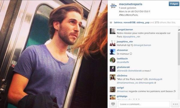 Instagram account met mooie Franse mannen