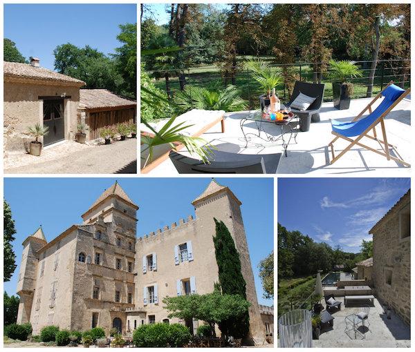 Opgeknapte kasteel en oude huizen te huur in Zuid-Frankrijk