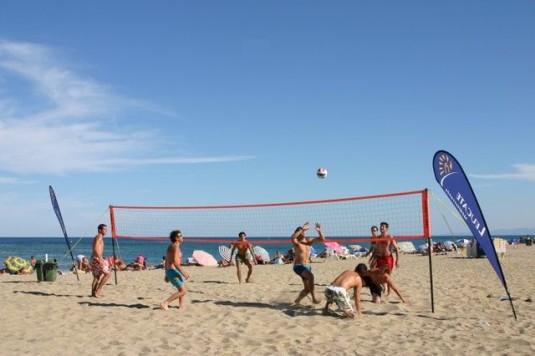 Leucate Plage, mooiste stranden van de Languedoc-Rousillon volleyballers