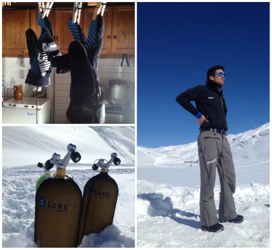 ijsduiken in Val Thorens