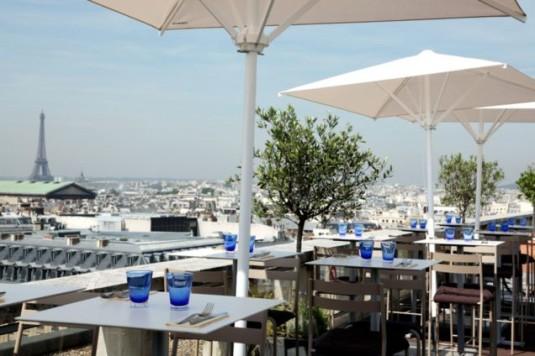 top 10 mooiste uitzichten parijs warenhuizen dakterras