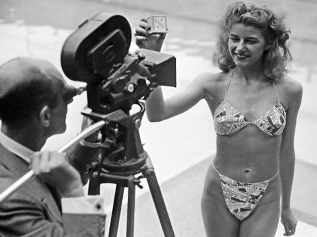 Franse uitvinding : bikini in piscine Molitor