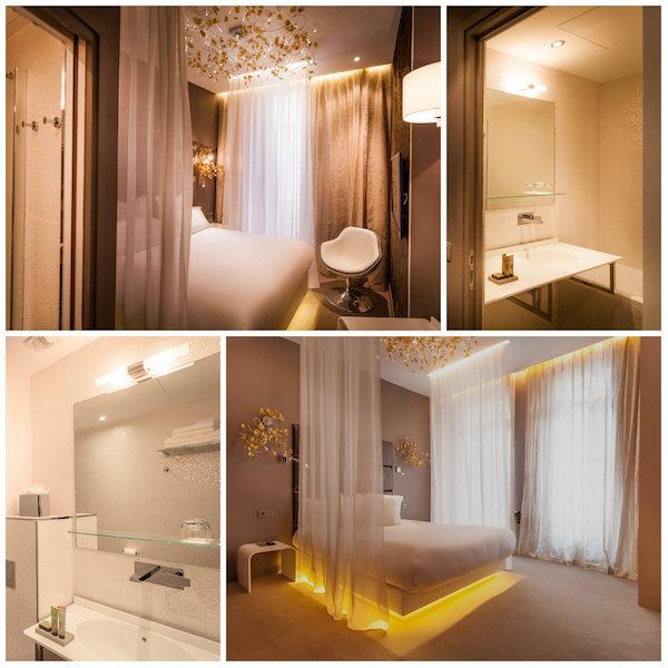 kamer van Carole in Legend hotel Parijs