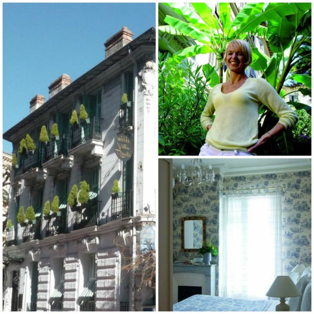 Eigenaresse Barbara van romantisch hotel Villa Rivoli in Nice