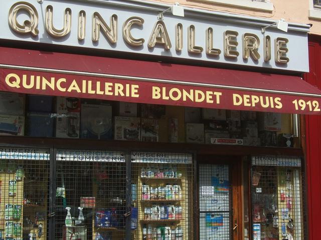 moeilijk gekke Franse woorden quincaillerie