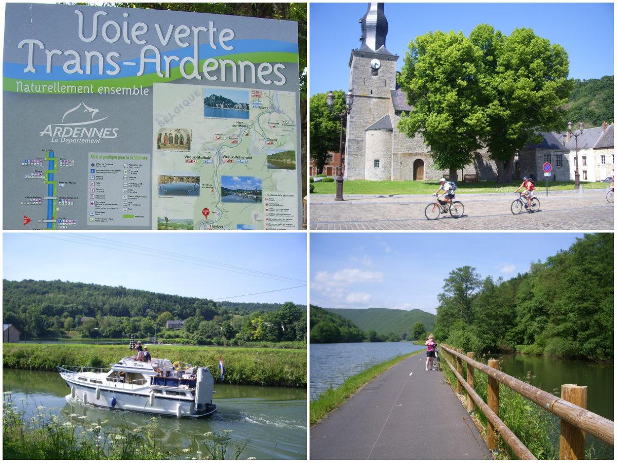 Fietsen op de voie verte in de Franse Ardennen