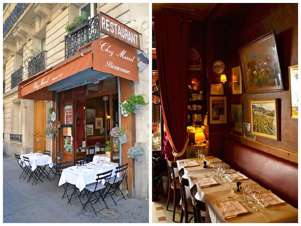 Restaurant chez Marcel in Parijs