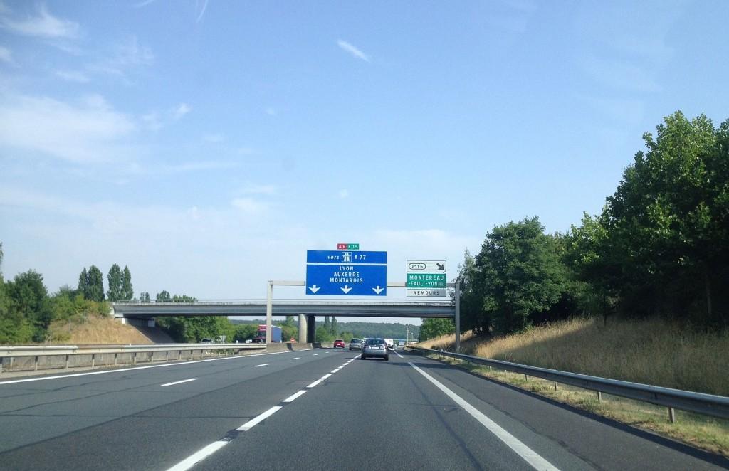 autoroute a6 tussen parijs en nemours 2015