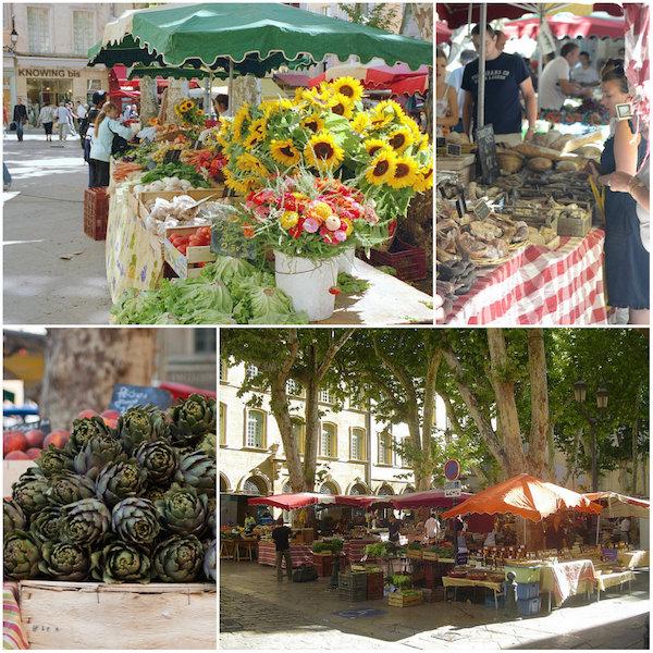 markt van Aix en Provence