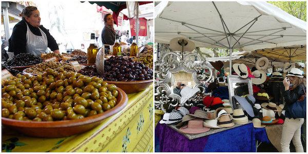 markt van Saint Tropez