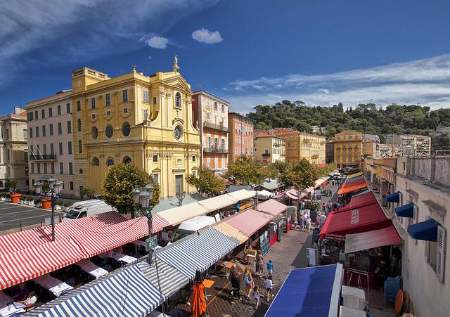 Markt van Nice cours Saleya