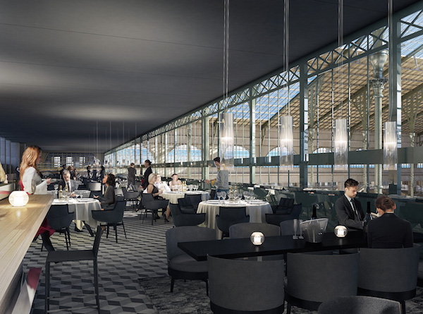 nieuwe brasserie in de Gare du Nord