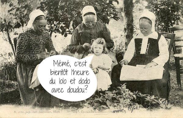 Franse dubbelwoorden: kindertaal