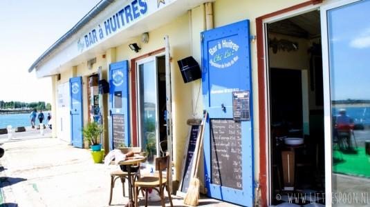 Lunchen bij che luz in Etel Zuid-Bretagne