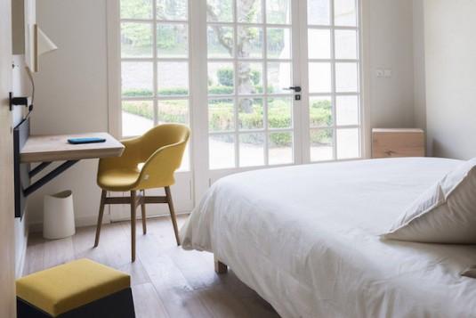 Gewaagd hotel in abdij van Fontevraud