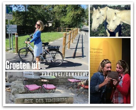 Josee en Carole fietsen door Zuid-Frankrijk