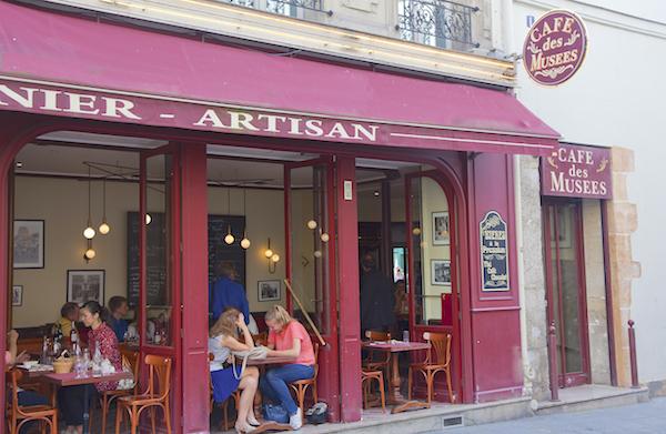 cafe des Musées lunchadres restaurant Marais