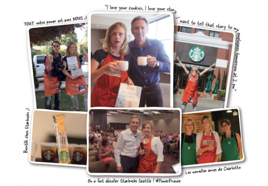 Starbucks campagne van Michel et Augustin