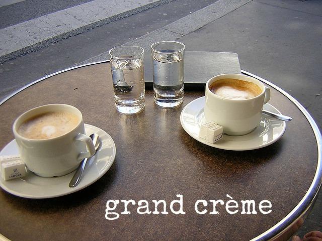 grand crème koffie Parijs