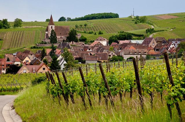 Mooiste dorpen van de Elzas Hunawihr wijnroute wijndorpen