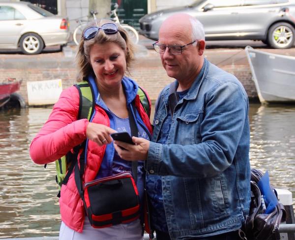 Josee en Louis Zwaan doen Frans Amsterdam