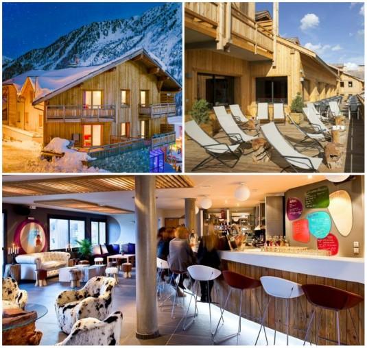 Hippe skihotels en kekke bergchalets in de franse alpen for Alpen design hotel