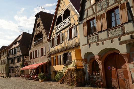 Elzas wijndorpen Bergheim